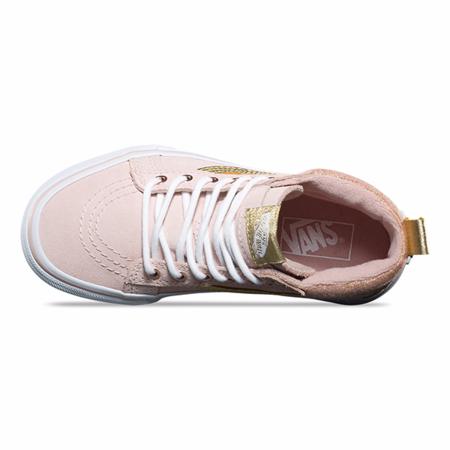 Kids Vans Sk8-Hi MTE Sneaker - Sepia Pink Gold