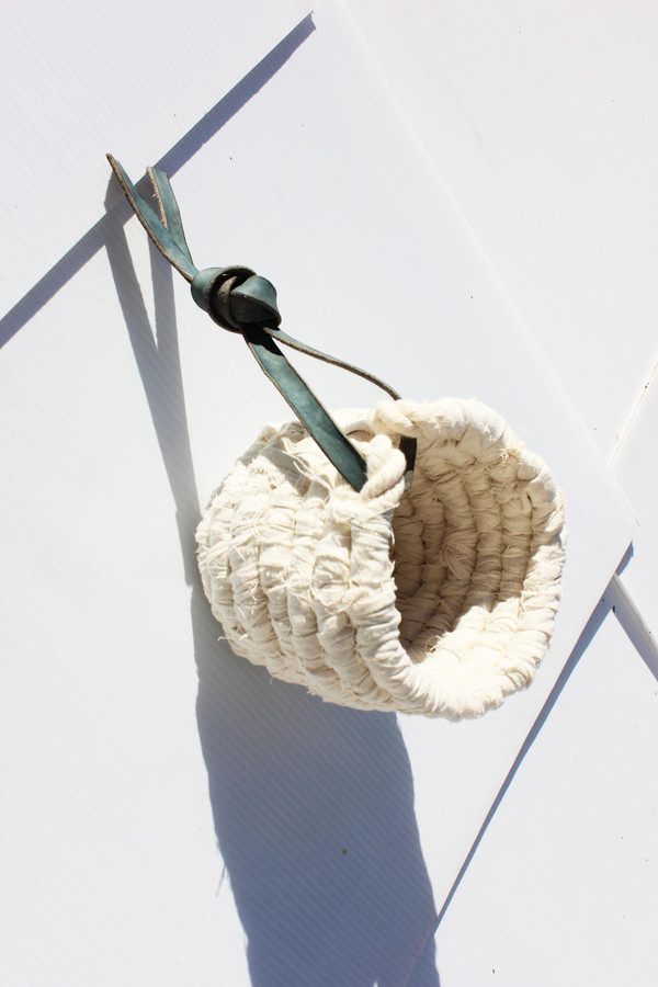 Large Hand Woven Coil Basket