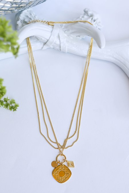 CAM Jewelry Charmed Maya Necklace - Gold