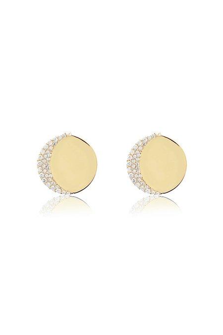 Edge of Ember Moon Earrings - Gold