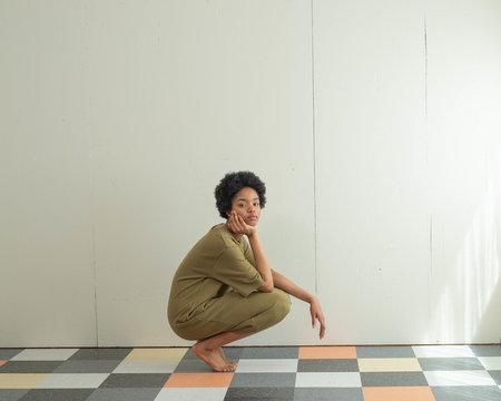 Sunja Link Cotton Knit Dress - Olive