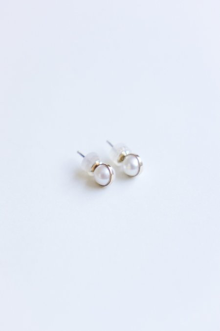 Melissa Joy Manning Post Earring - 14K Yellow Gold/Pearl