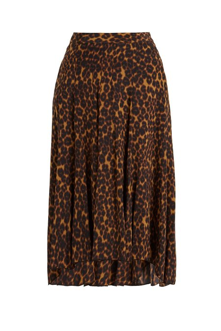 Masscob Leopard Silk Skirt