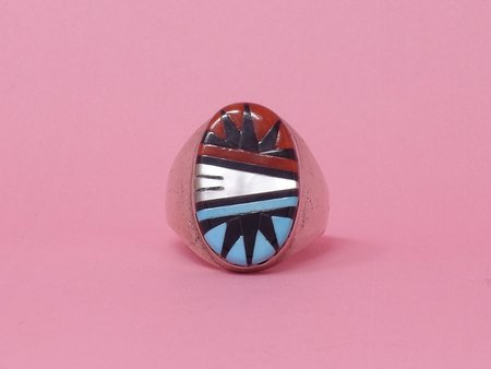 Queen City General Store Vintage Inlay Ring