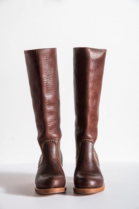 Visvim Rosebud Boots Folk Bison in Brown