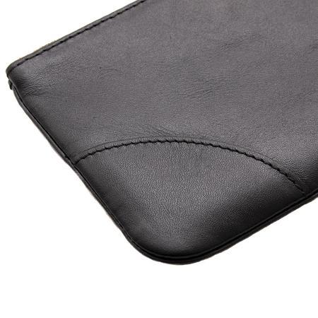 Unisex Comme des Garçons Classic Leather Line Zip Wallet - Black