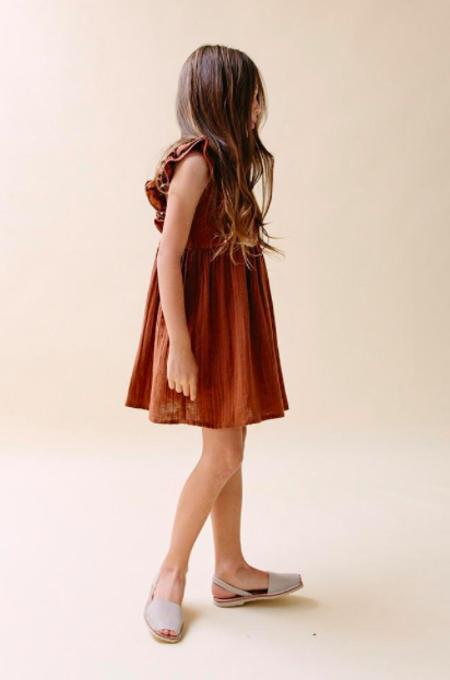 Kids Daughter Co Daughter Briar Dress - Rust