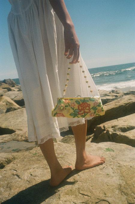 VINTAGE Either, And Beaded Handbag - Yellow