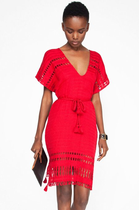 Wax and Cruz Belted Caftan Dress