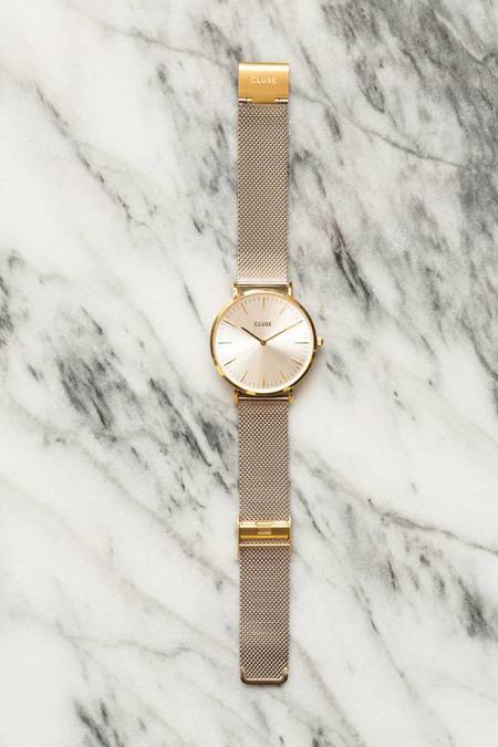 CLUSE La Boheme Mesh Watch - Gold/Silver