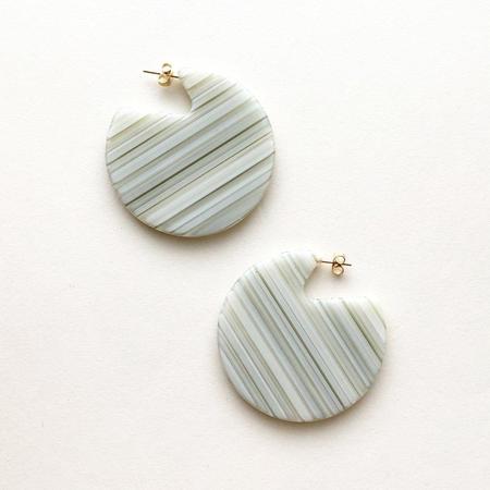 Machete Clare Earrings - Vert Sripe