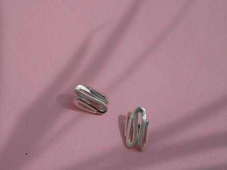 Luiny Undulations Cuff Earrings