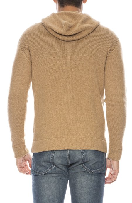 Roberto Collina Seamless Pullover Hoodie - CAMEL