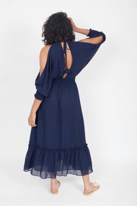 MISA Margaux Dress - Navy