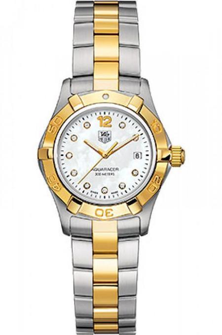 Tag Heuer Aquaracer Diamond Two-Tone Watch - Silver/Gold