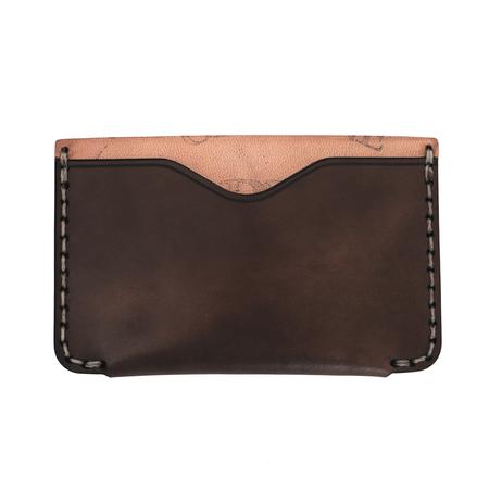 Makr Cordovan Horizon Two Wallet - Dark Cognac