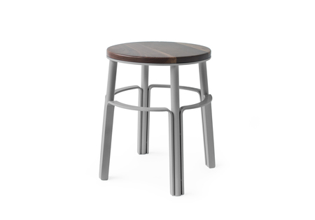 "MAKR Factory Stool 18"" - PALE GRAY POWDER"