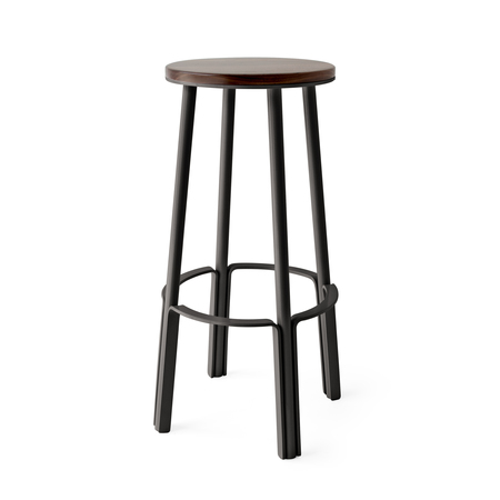 "MAKR Factory Stool 28"" - Pewter"