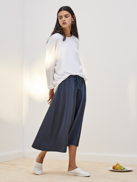 Kowtow Building Block Culottes in Dark Teal
