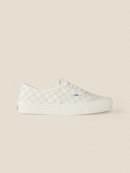 Vans Vault OG Authentic LX Sneakers -  Checkerboard/Marshmallow