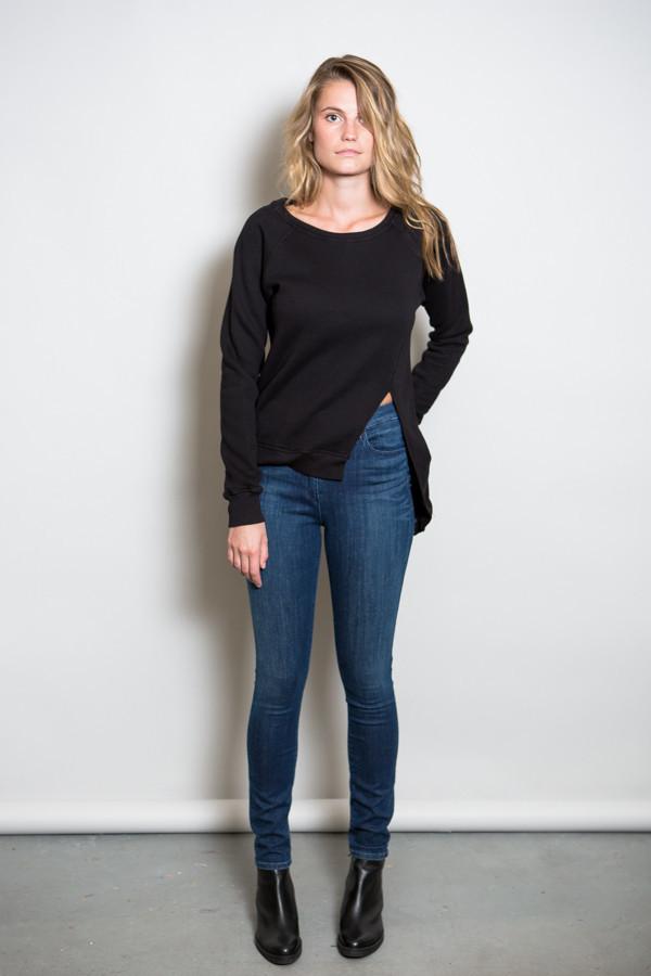 Oak Split Front Pullover