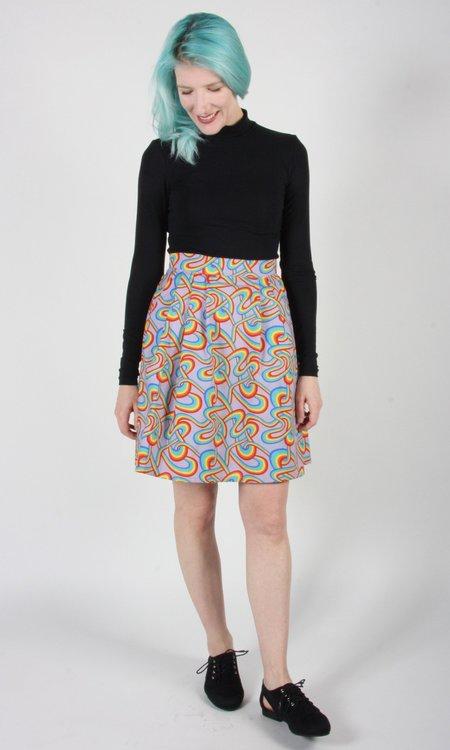 Birds of North America Akialoa Skirt - Rainbow Tangle