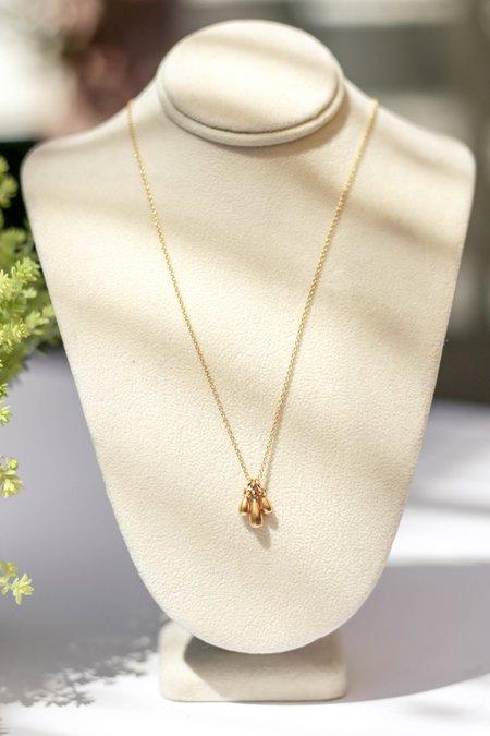 Bloom Triple Teardrop Sliding Delicate Necklace