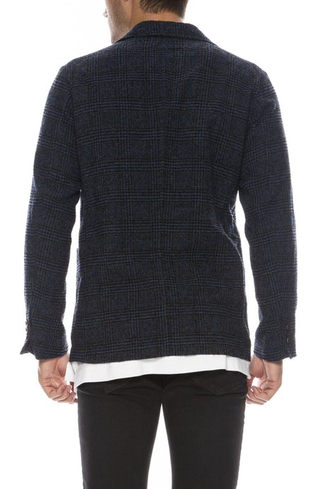 Tomorrowland Wool Check Three Button Jacket