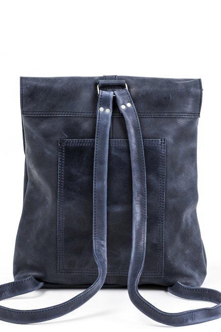 Raven and Lily Yami Leather Backpack - Navy