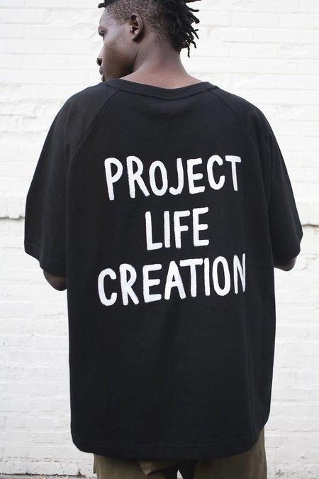P.L.C Back Print Half Sweatshirt