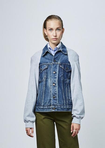 Harvey Faircloth Sweater Back Denim Jacket