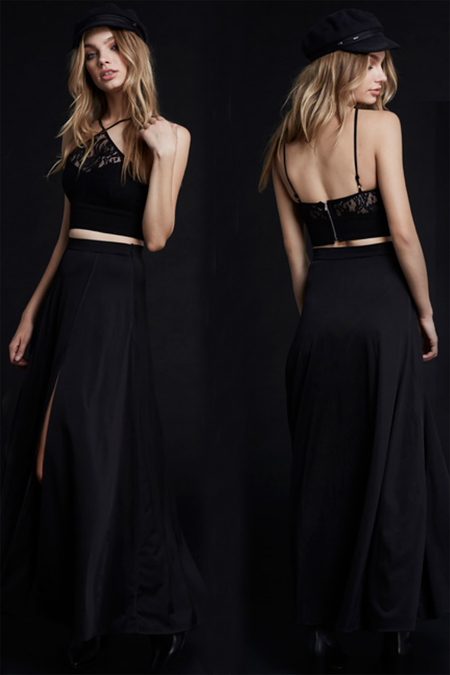 WYLDR Dream Night Maxi Skirt - Black