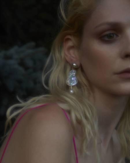 Gala Is Love Supernova Earrings - Abalone