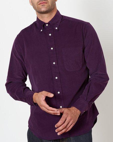 Gitman Vintage Button Down Shirt  - Purple Corduroy