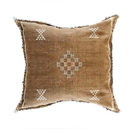 Valiente Goods Moroccan Sabra Pillow - Brown