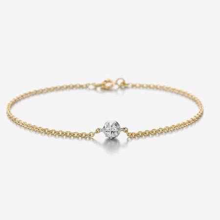 Jessica McCormack Cut-down diamond fine chain bracelet - 18k Gold