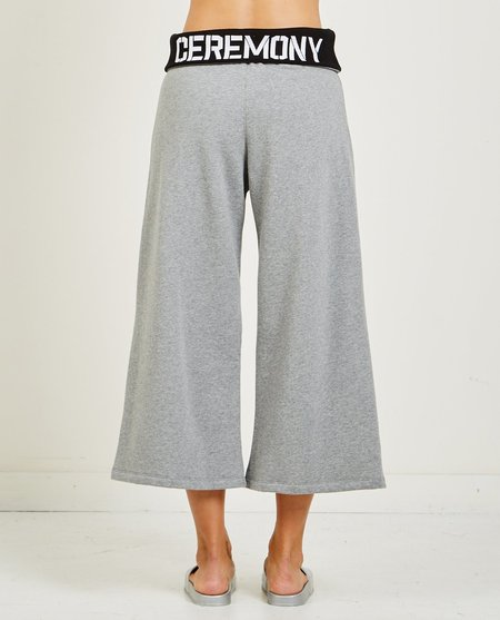 Opening Ceremony OC ELASTIC LOGO CROP SWEATPANT - HEATHER GREY