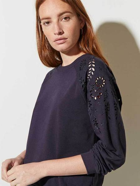 Great Plains Winter Embroided Top - Midnight