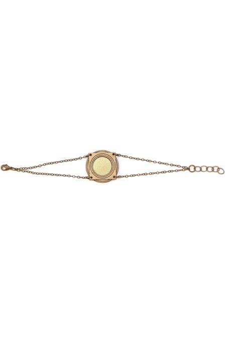 Diamonds Are Evil windrose square bracelet - WOOD/BRASS