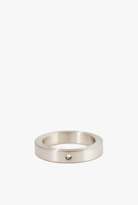 Marmol Radziner Heavyweight Solid Thin Ring - WHITE BRASS