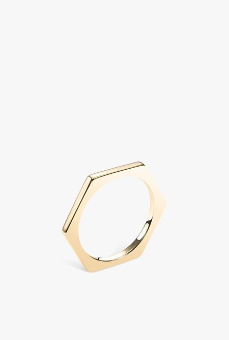 Selin Kent Hex Band - 14k GOLD