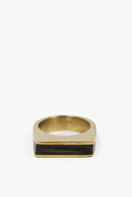 SOKO Horn Line Ring - BLACK