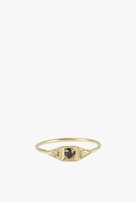 Jennie Kwon Mini Deco Point Ring - 14k Gold