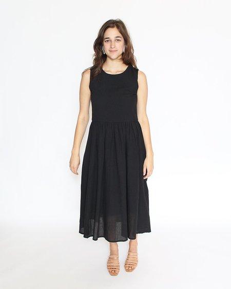 7115 by Szeki Linen Jumper Dress - Black