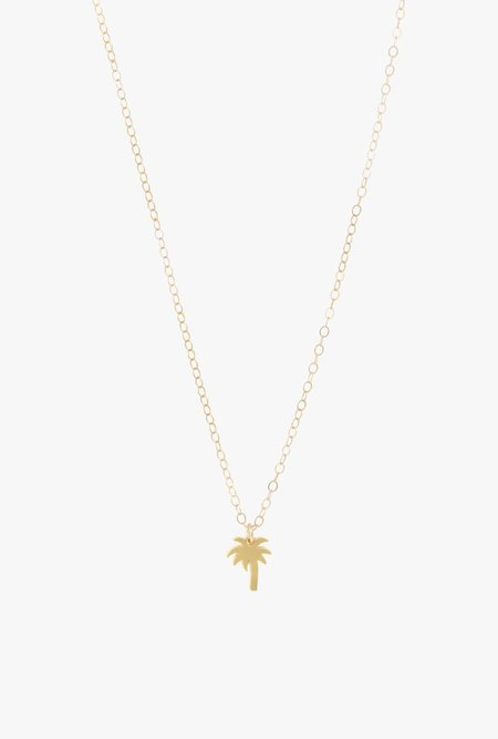 Seoul Little Palm Tree Necklace - 14k Gold
