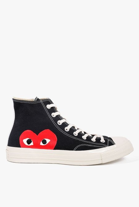Unisex Comme des Garçons All Star '70 High Top Sneaker - black