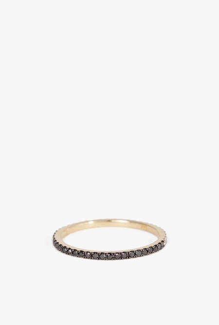 Eriness BLACK/WHITE Diamond Eternity Band - 14k Gold