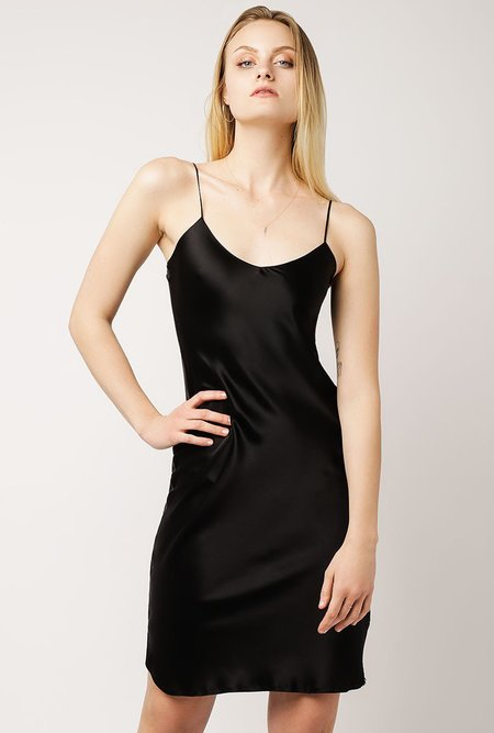 Nili Lotan Short Cami Dress - BLACK