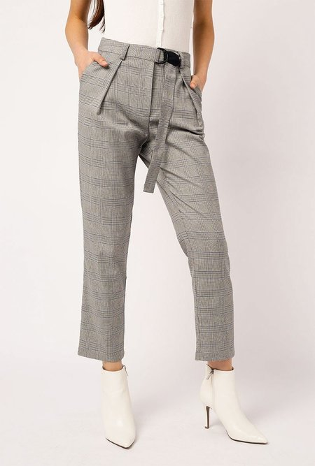 Azalea Belted Plaid Pants