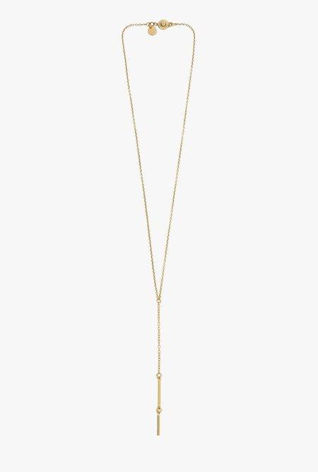 Ak Studio String Necklace - Brass
